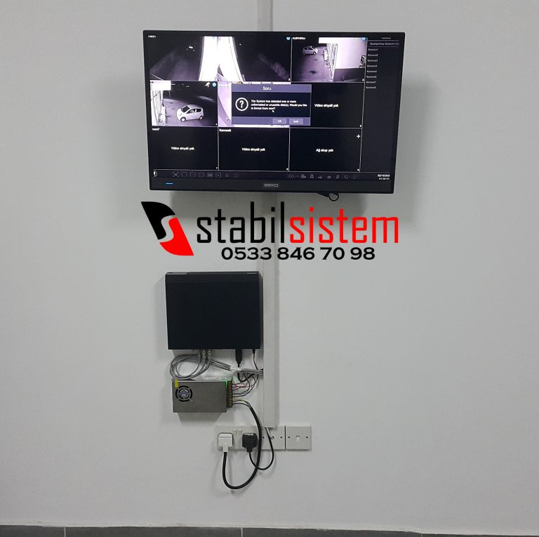 kıbrıs güvenlik sistemleri kayıt cihazı ve adaptör montajı hdmi tv bağlantısı.