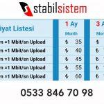 kktc adsl internet fiyat listesi